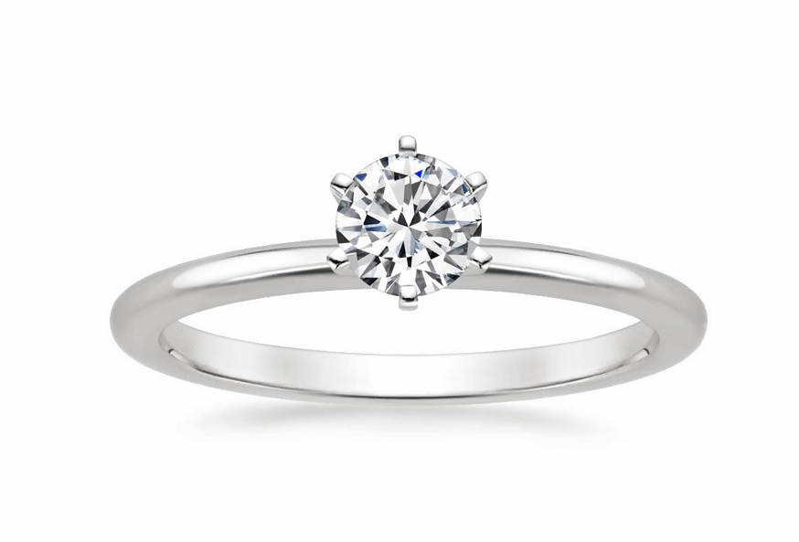 A ring with a diamond 0.19 ct